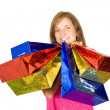 Girl holding shopping bags — Stock Photo #4626432