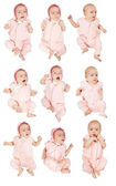 Set of 9 little baby girl — Stockfoto