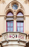 Window of Neogothic house — Stock Photo