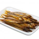 Golden smoke-dried fish — Stock Photo #4816598