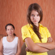 Mother and daughter having quarrel — Stock Photo #4817041