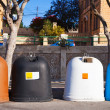 Stock Photo: Recycle bin containers