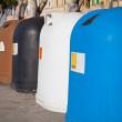 Recycle bin containers — Stock Photo