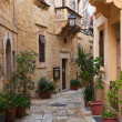 Street in   old mediterranean town - Stock Photo