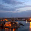 Royalty-Free Stock Photo: Grand Harbour in dusk. Malta