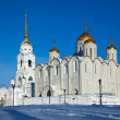 Assumption cathedral  at Vladimir  in winte — Stock Photo