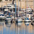 Yachts  lying at Dockyard Creek — Stock Photo