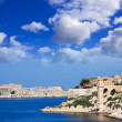 View of Kalkara and Valetta — Stock Photo