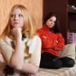 Young women after quarrel - Stock Photo