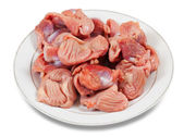 Raw fresh chicken gizzard — Stock Photo