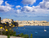 Grand Harbour and Valletta — Stock Photo