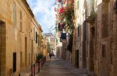 Picturesque houses of Valletta — Stock Photo