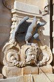 Fountain with sculpture in Valletta — Stock Photo