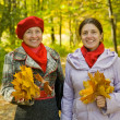 Stock Photo: Mother with adult daughter in autumn