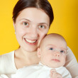 Mother with her little baby — Stock Photo #4833144
