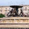 Triton fountain. Malta - Stock Photo