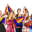 Girls with shopping bags - Stockfoto
