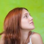 Tender girl over green — Stock Photo #4835117