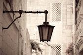 Retro photo of Vintage classic lantern — Stock Photo