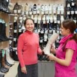Women shopping at  shoe shop — Stock Photo #5149251