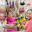 Female  customer at  counter in  shop — Stock Photo #5149265