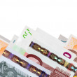 Royalty-Free Stock Photo: Border of  euro banknotes