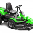 Green lawn mower - Stock Photo