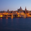 Old Valletta in dusk — Stock Photo