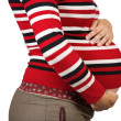 Stock Photo: Belly of 9 months pregnant woman