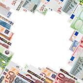 帧从许多欧元纸币 — 图库照片