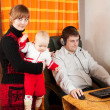 Man works at home — Stock Photo