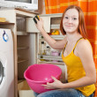 Woman cleaning the refrigerator — Stock Photo #5150316