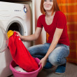 Royalty-Free Stock Photo: Woman doing laundry
