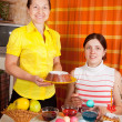 Two women celebrating Easter — Stock Photo