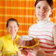 Women preparing to Easter holiday — Stock Photo