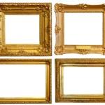 Set of Luxury gilded frames — Stock Photo