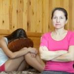 Mature mother and daughter after quarrel — Stock Photo #5152583