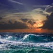 Sea in sunset - Stock Photo