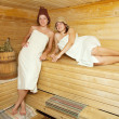 Women is taking steam-bath — Stock Photo #5152624