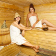 Girls is taking steam-bath — Stock Photo