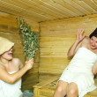 Girls at sauna — Stock Photo #5152628