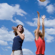 Girls playing volleyball — Stock Photo