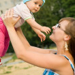 Mother playing with baby — Stock Photo #5153225