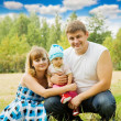 Happy family of 3 — Stock Photo #5153309