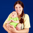 Happy mother with 3 month baby — Stock Photo #5153664