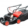 Stock Photo: Lawnmower over white