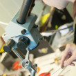 Стоковое фото: Jeweller is working with microscope