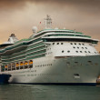 Cruise liner  in the port — Stock Photo