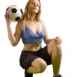 Stock Photo: Soccer player with ball
