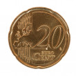 Stock Photo: Twenty euro cent coin